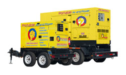 portable air and power wheeled generator